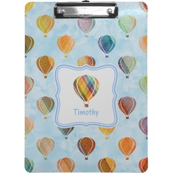 Watercolor Hot Air Balloons Clipboard (Personalized)