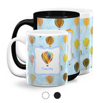 Watercolor Hot Air Balloons Coffee Mugs (Personalized)