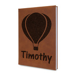 Watercolor Hot Air Balloons Leatherette Journal (Personalized)