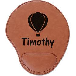 Watercolor Hot Air Balloons Leatherette Mouse Pad with Wrist Support (Personalized)
