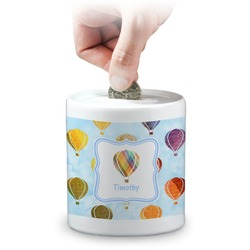 Watercolor Hot Air Balloons Coin Bank (Personalized)