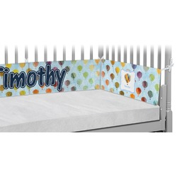 Watercolor Hot Air Balloons Crib Bumper Pads (Personalized)