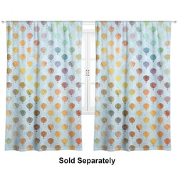 "Watercolor Hot Air Balloons Curtains - 40""x84"" Panels - Unlined (2 Panels Per Set) (Personalized)"
