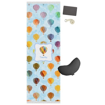 Watercolor hot air balloons yoga mat personalized for Housse ballon yoga