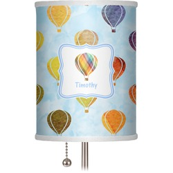 "Watercolor Hot Air Balloons 7"" Drum Lamp Shade (Personalized)"