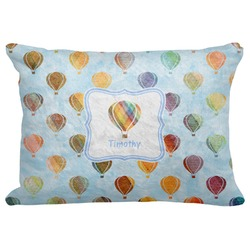 "Watercolor Hot Air Balloons Decorative Baby Pillowcase - 16""x12"" (Personalized)"