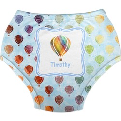 Watercolor Hot Air Balloons Diaper Cover (Personalized)