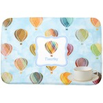 Watercolor Hot Air Balloons Dish Drying Mat (Personalized)