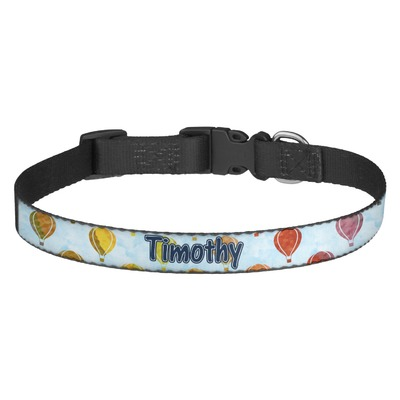 Watercolor Hot Air Balloons Dog Collar (Personalized)