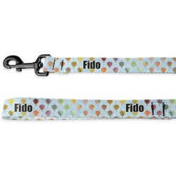 Watercolor Hot Air Balloons Deluxe Dog Leash (Personalized)
