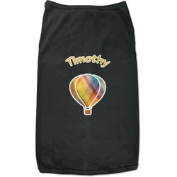 Watercolor Hot Air Balloons Black Pet Shirt (Personalized)