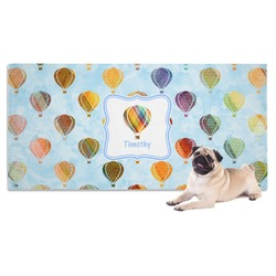 Watercolor Hot Air Balloons Pet Towel (Personalized)