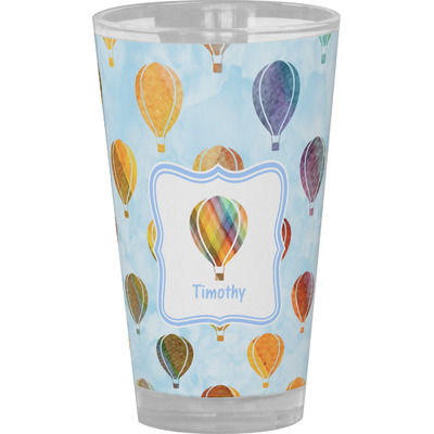 Watercolor Hot Air Balloons Drinking / Pint Glass (Personalized)