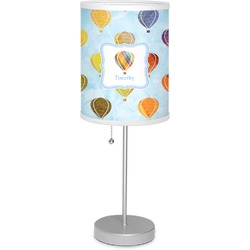 "Watercolor Hot Air Balloons 7"" Drum Lamp with Shade (Personalized)"