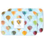 Watercolor Hot Air Balloons Dish Drying Mat (Personalized)