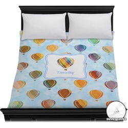 Watercolor Hot Air Balloons Duvet Cover (Personalized)