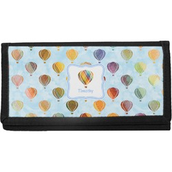 Watercolor Hot Air Balloons Canvas Checkbook Cover (Personalized)