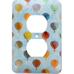 Watercolor Hot Air Balloons Electric Outlet Plate (Personalized)