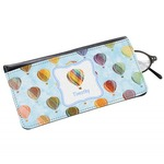 Watercolor Hot Air Balloons Genuine Leather Eyeglass Case (Personalized)