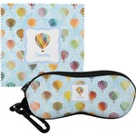 Watercolor Hot Air Balloons Eyeglass Case & Cloth (Personalized)