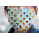 Watercolor Hot Air Balloons Face Mask Cover (Personalized)