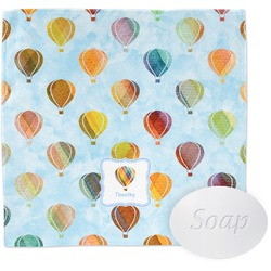 Watercolor Hot Air Balloons Wash Cloth (Personalized)