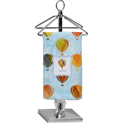 Watercolor Hot Air Balloons Finger Tip Towel - Full Print (Personalized)