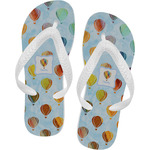 Watercolor Hot Air Balloons Flip Flops (Personalized)