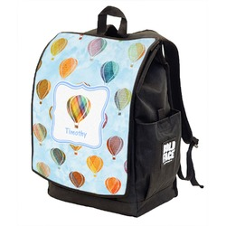 Watercolor Hot Air Balloons Backpack w/ Front Flap  (Personalized)
