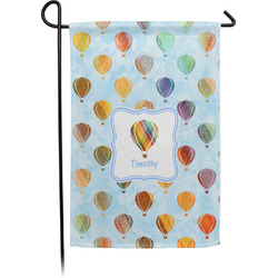 Watercolor Hot Air Balloons Garden Flag - Single or Double Sided (Personalized)