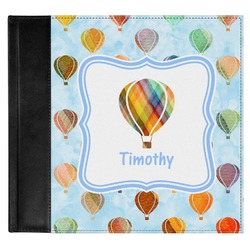 Watercolor Hot Air Balloons Genuine Leather Baby Memory Book (Personalized)