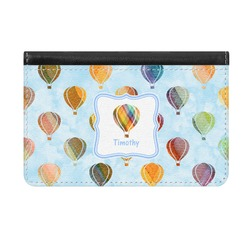 Watercolor Hot Air Balloons Genuine Leather ID & Card Wallet - Slim Style (Personalized)