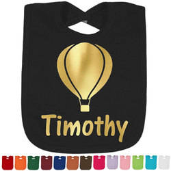 Watercolor Hot Air Balloons Foil Baby Bibs (Personalized)