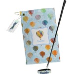 Watercolor Hot Air Balloons Golf Towel Gift Set (Personalized)