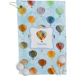 Watercolor Hot Air Balloons Golf Towel - Full Print (Personalized)
