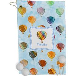 Watercolor Hot Air Balloons Golf Towel - Full Print (Personalized)