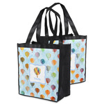 Watercolor Hot Air Balloons Grocery Bag (Personalized)