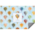 Watercolor Hot Air Balloons Indoor / Outdoor Rug (Personalized)