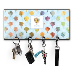 Watercolor Hot Air Balloons Key Hanger w/ 4 Hooks (Personalized)