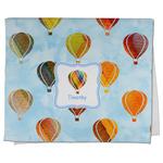 Watercolor Hot Air Balloons Kitchen Towel - Full Print (Personalized)
