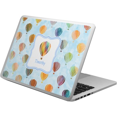 Watercolor Hot Air Balloons Laptop Skin - Custom Sized (Personalized)