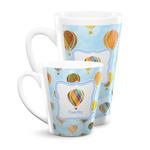 Watercolor Hot Air Balloons Latte Mug (Personalized)