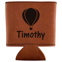 Watercolor Hot Air Balloons Leatherette Can Sleeve (Personalized)