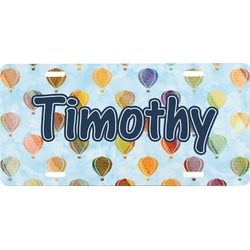 Watercolor Hot Air Balloons Front License Plate (Personalized)