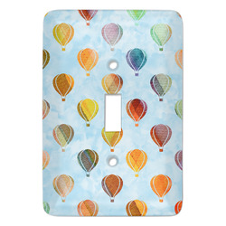 Watercolor Hot Air Balloons Light Switch Covers - Multiple Toggle Options Available (Personalized)