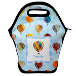 Watercolor Hot Air Balloons Lunch Bag w/ Name or Text