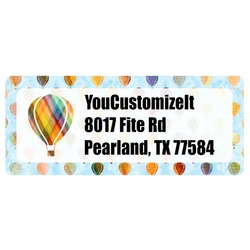 Watercolor Hot Air Balloons Return Address Labels (Personalized)