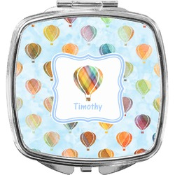 Watercolor Hot Air Balloons Compact Makeup Mirror (Personalized)