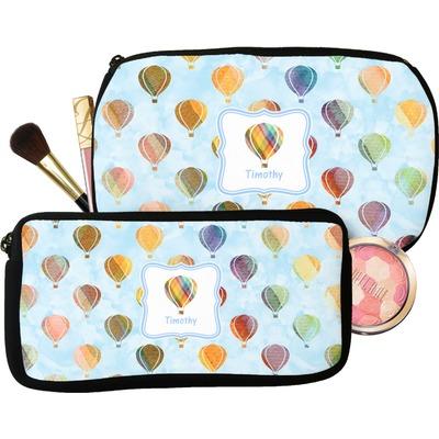 Watercolor Hot Air Balloons Makeup / Cosmetic Bag (Personalized)