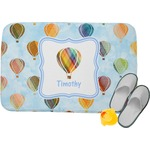 Watercolor Hot Air Balloons Memory Foam Bath Mat (Personalized)